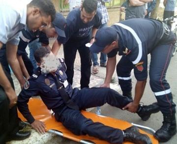إصابة بعضهم خطيرة.. طعن 11 شرطيا ودركي في الرباط