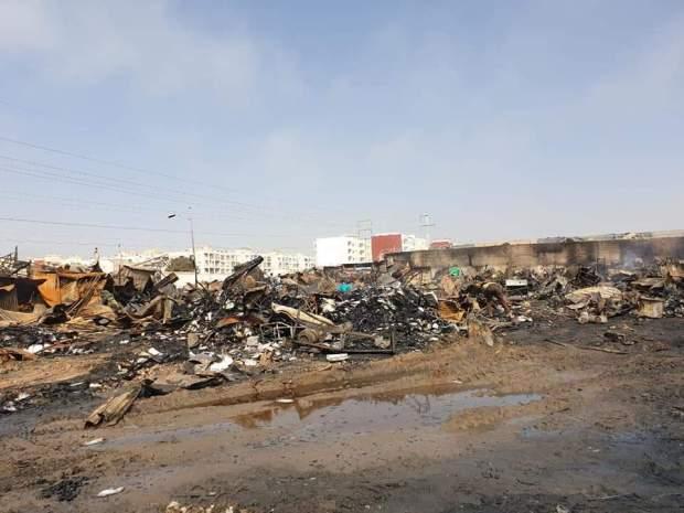 في انتظار إيجاد حلول للمتضررين.. تفاصيل 3 ساعات من حريق سوق المتلاشيات في أكادير