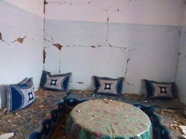 بسبب الهزة الأرضية.. خسائر مادية في إقليم ميدلت (صور)