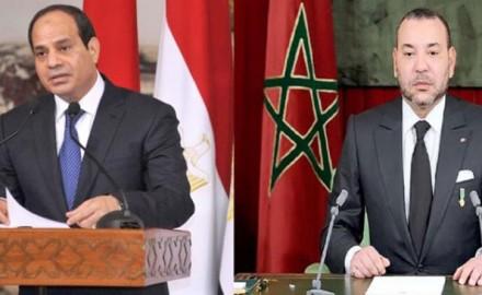 سلمه رسالة خطية من الملك.. الرئيس المصري يستقبل بوريطة