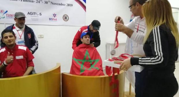 نبيل مرزوق.. شاب من ذوي القدرات الخاصة يتوج ببطولة البوتشيا في تونس (صور)