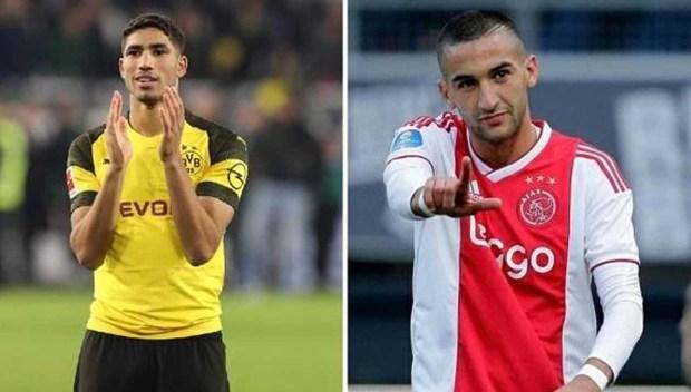 زياش وتاعرابت إلى يوروبا ليغ وحكيمي إلى الدور المقبل.. مغاربة دوري أبطال أوروبا