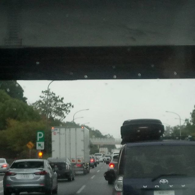 東上中 #雨#渋滞