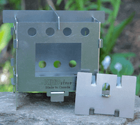 KIHD Stove Basic camping stove made of cold rolled steel.