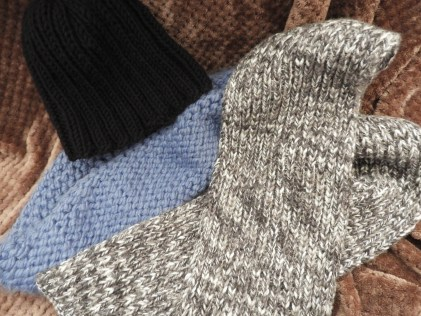 current knitting projects