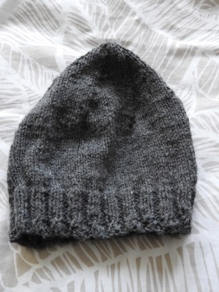 complete first knitted project