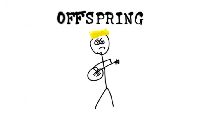 Due to ass photo-contracts, I had to refuse to photograph The Offspring. So  I drew them.
