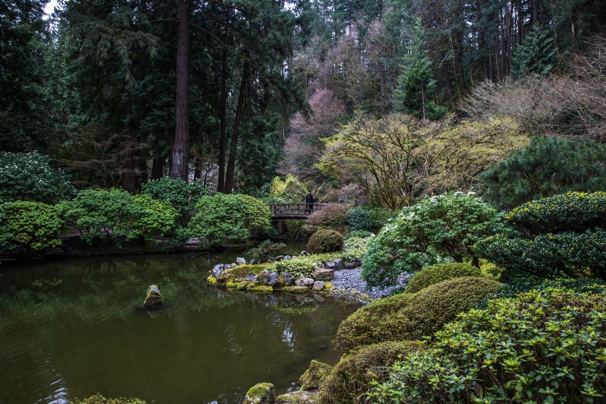 Cecilie at Portland Japanese Garden