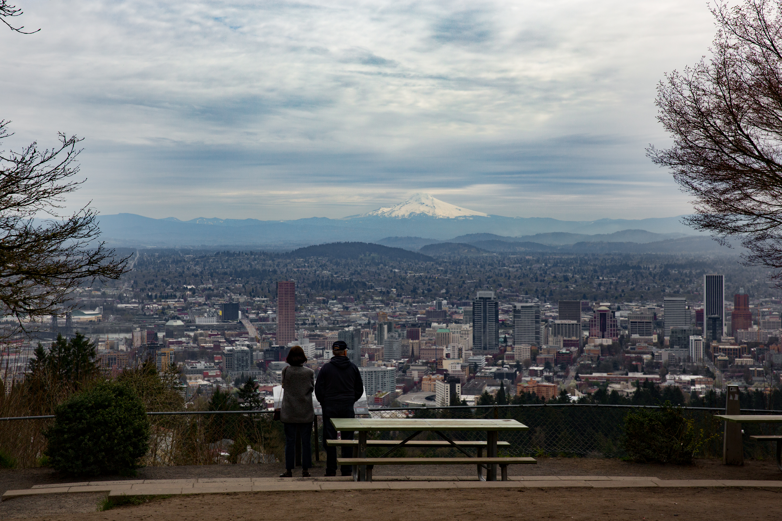 Portland and Mt Hood viewed from Pittock Mansion