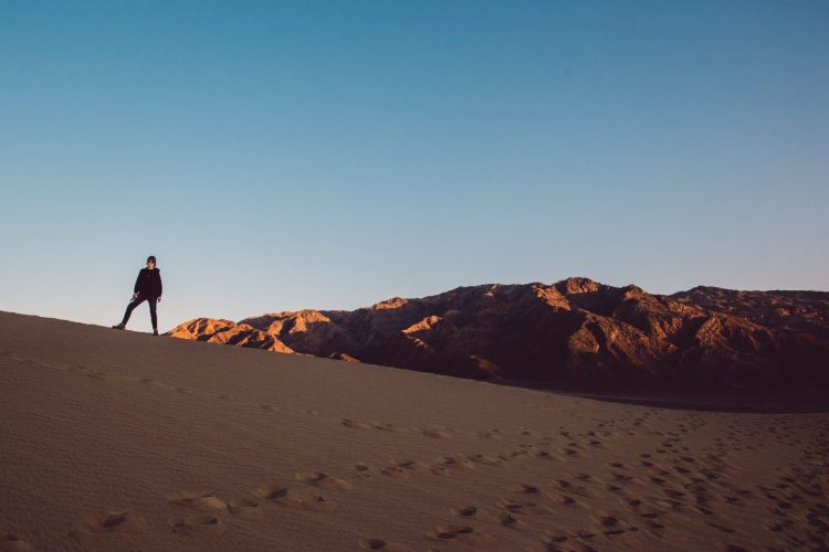 Cecilie at Mesquite Flat Sand Dunes, Death Valley