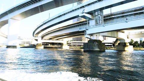 台場IC船内から東京水辺ライン