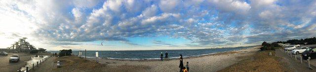 富津岬_東京湾の風景