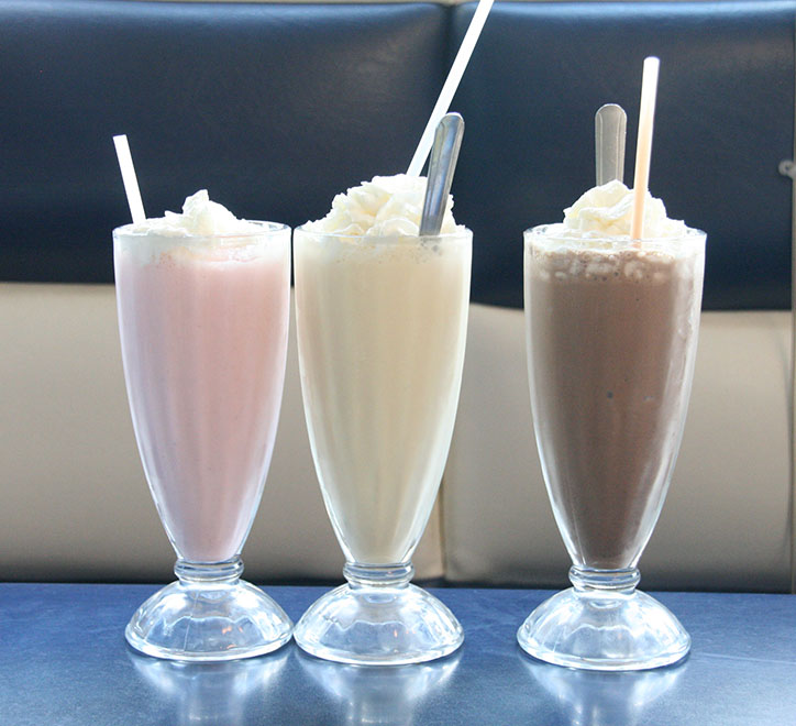 Milkshake på 11th street diner - Miami South Beach