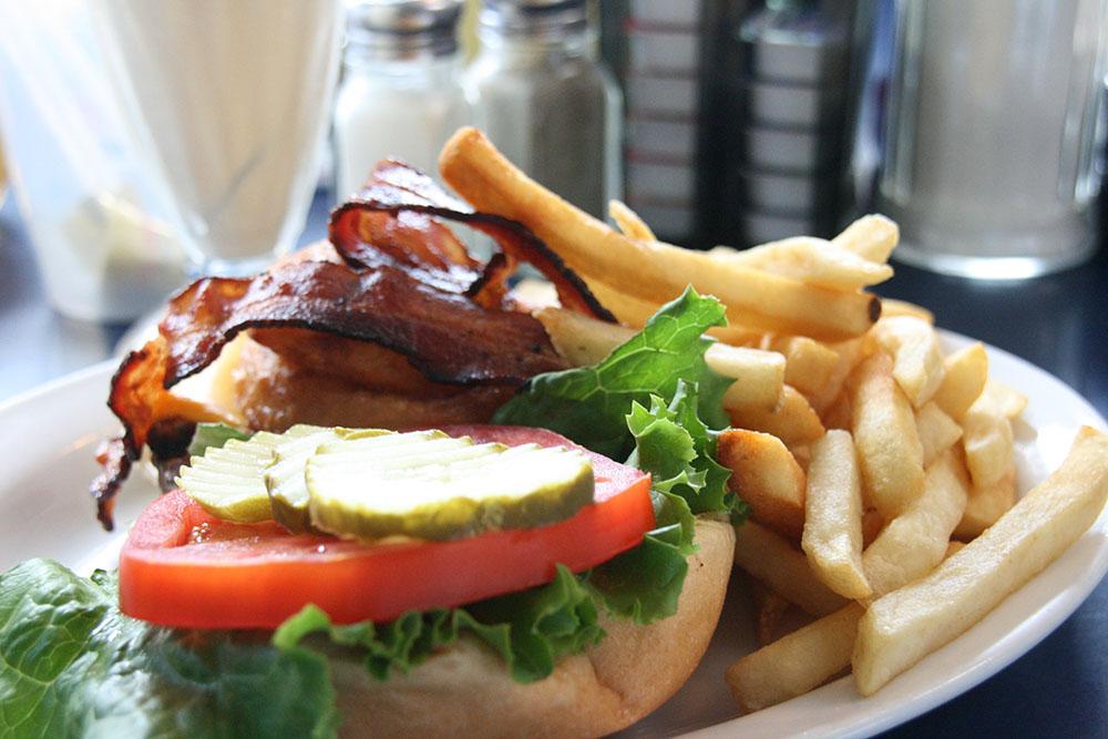 Cowboy burger på 11th street diner - Miami South Beach
