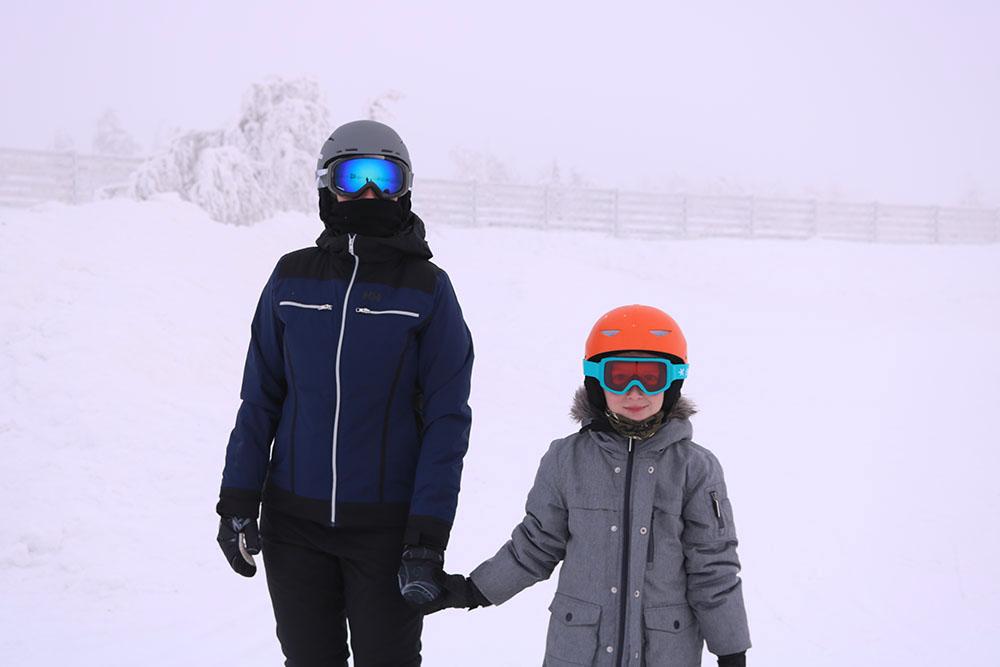 Det er koldt på toppen af bjerget i Stöten