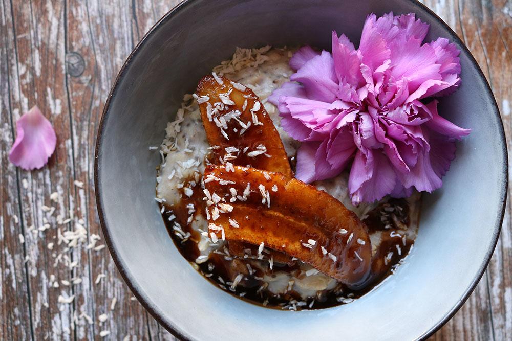 Opskrift på hurtig havregrød med chia, vanilje og banan