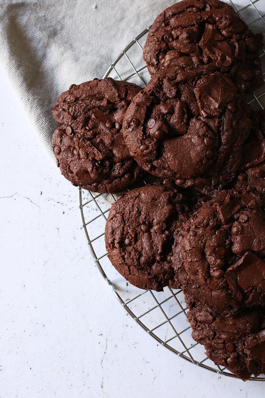 Perfekte chokolade brownie cookies