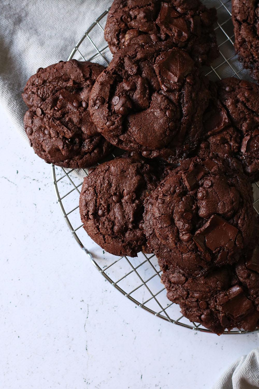 Verdens bedste opskrift på choko mint brownie cookies