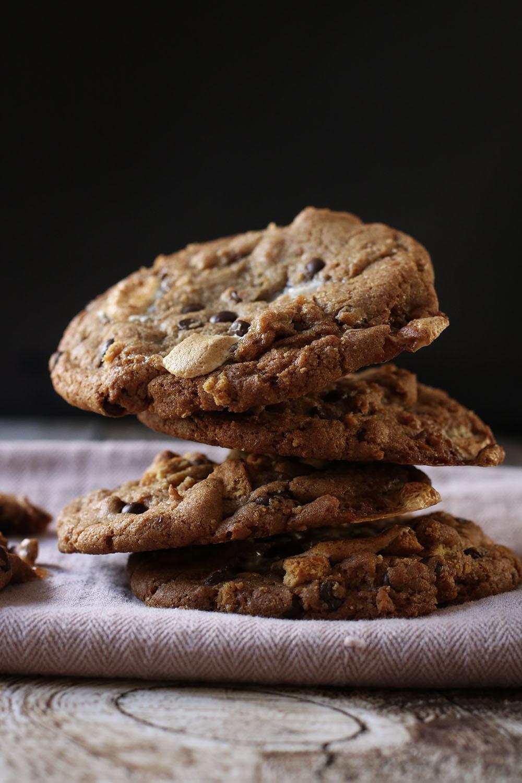 lækker opskrift på S'mores cookies