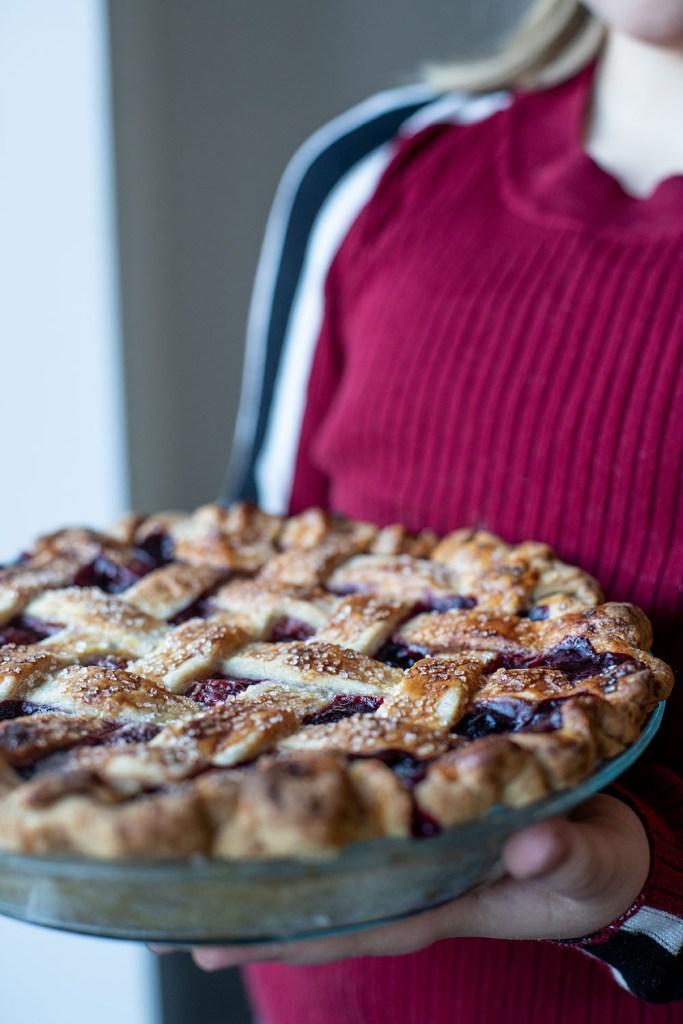 hjemmelavet kirsebærtærte