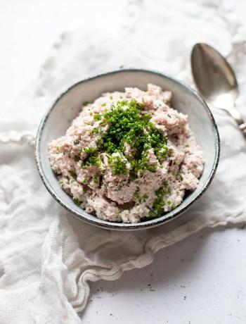 lækker hjemmelavet skinkesalat