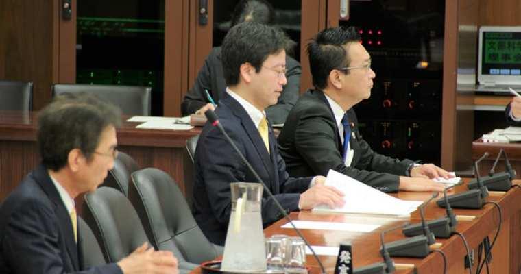 文部科学委員会、「文化観光推進法案」の質疑の続き、地元の高校生から高校教科書でのLGBTに関する政策提言、日本人留学生支援、バイトのなくなった大学生支援