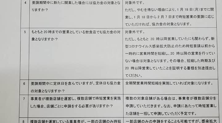 福岡県感染拡大防止協力金の詳細です 衆議院議員 きいたかし 福岡10区(北九州市門司区・小倉北区・小倉南区)