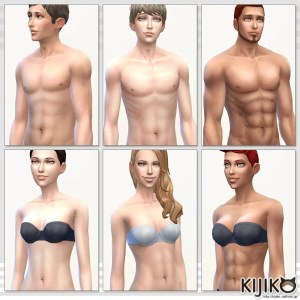 Skin Tones and Body Texture Overhaul for the Sims4 シムズ4 スキントーン スキントーンにテクスチャーオーバーホールを使用しています。