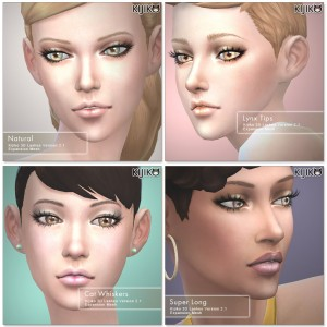 3D Lashes for the Sims4 / Long styles シムズ4 3Dまつ毛 ロングスタイルを追加しました。