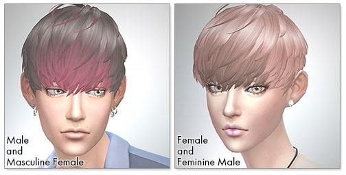 for the Sims4,Short Hair With Heavy Bangs シムズ4 髪型 Short Hair With Heavy Bangsです。新しい髪色を追加しました。