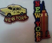 Ímãs de Nova York, presente do colega Gustavo! Foto: CMC em 5.6.2015
