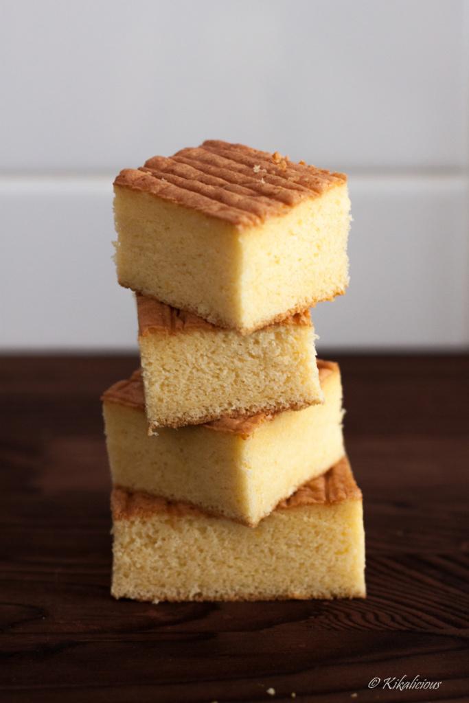 Sponge Cake with butter - Basic Recipes_ Pão de Ló com manteiga - Receitas Básicas - via kikalicious.com - #BasicRecipes #SpongeCake #Butter-24
