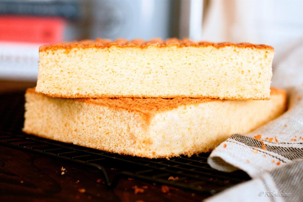 Butter Sponge Cake - Basic Recipes_ Pão de Ló com manteiga - Receitas Básicas - via kikalicious.com - #BasicRecipes #SpongeCake #Butter-24