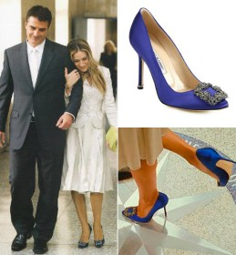 The Manolo 'Carrie' wedding shoe