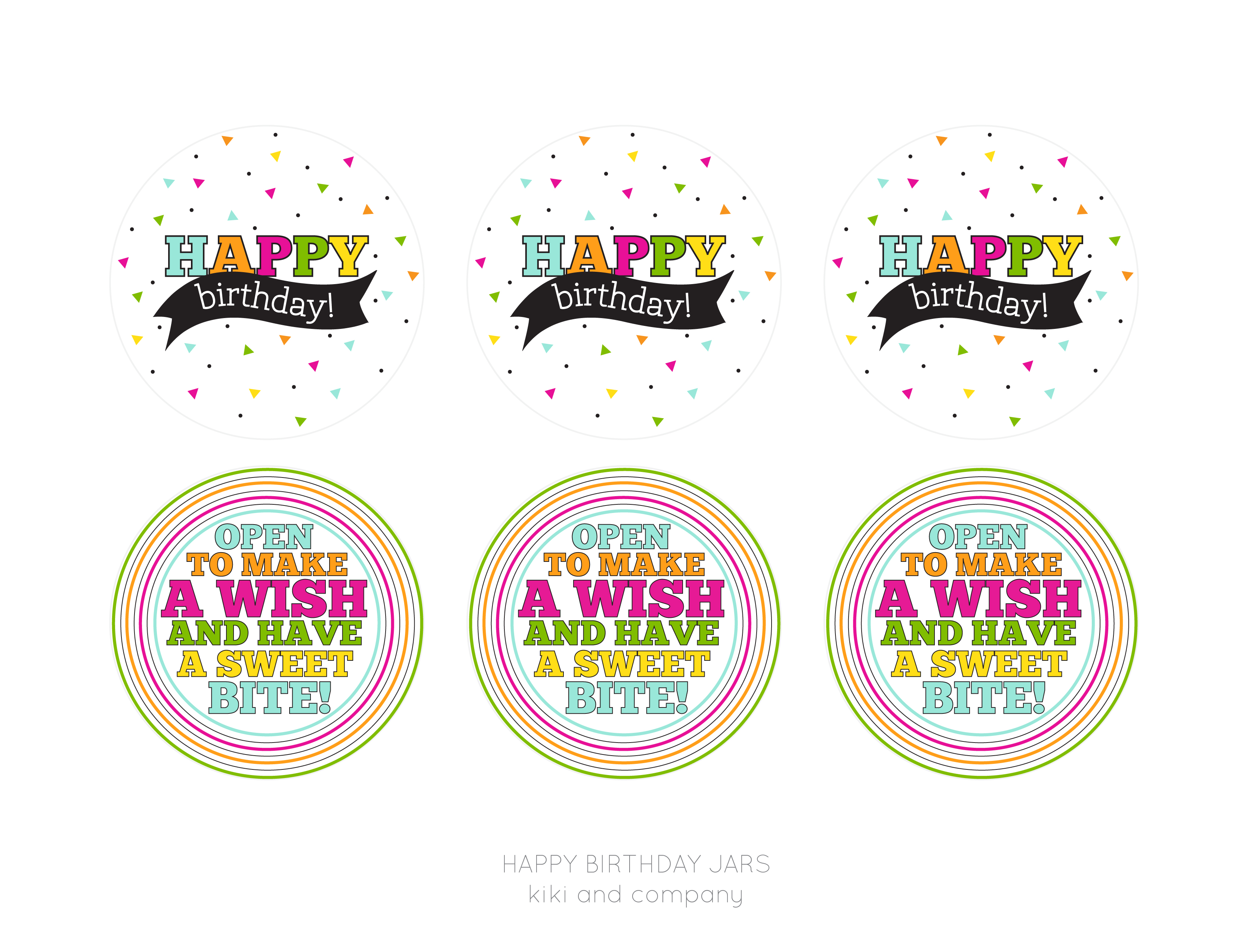 Happy Birthday Jar Free Printable