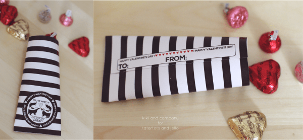 Free Printable Valentine Treat Holders. How cute and easy are these!