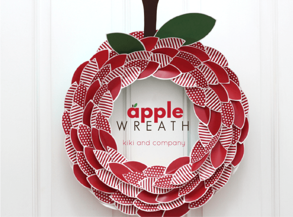 Apple Wreath from kiki and company.