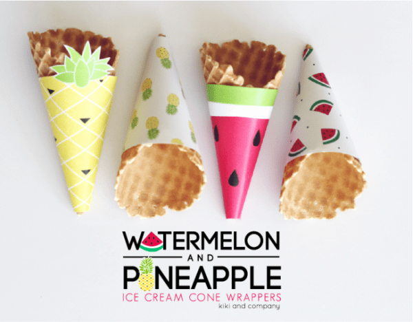ice cream cone wrappers