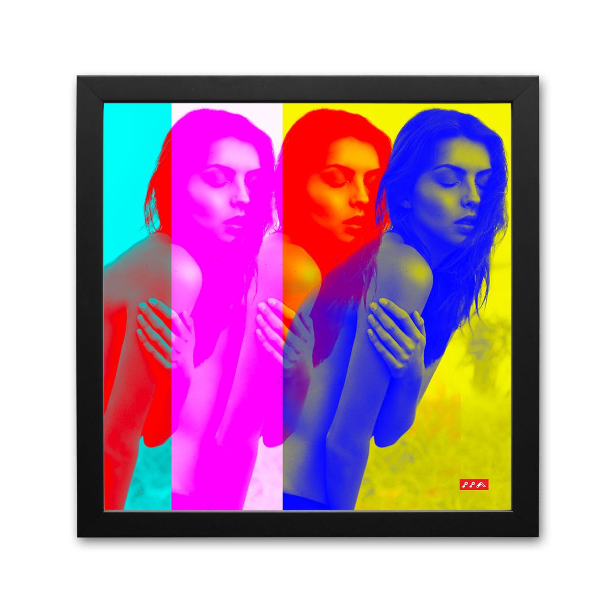 COLOURLESS COLOUR sexy framed print by kiki honeycutt