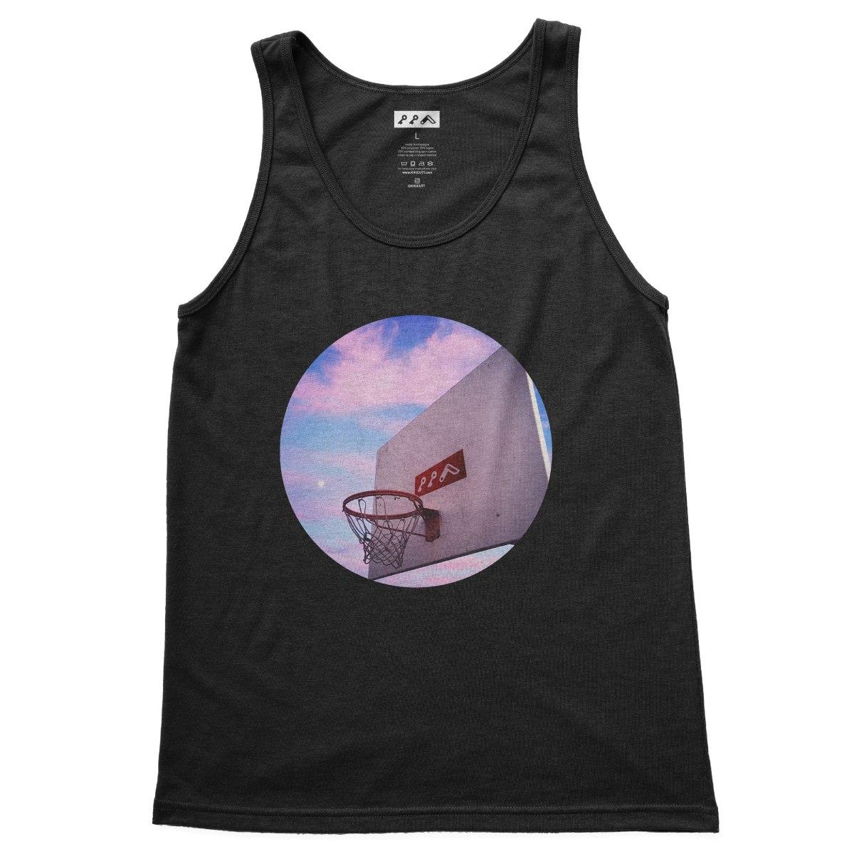 """HOOP DREAMS"" soft basketball tank tops in black tri-blend by kikicutt"