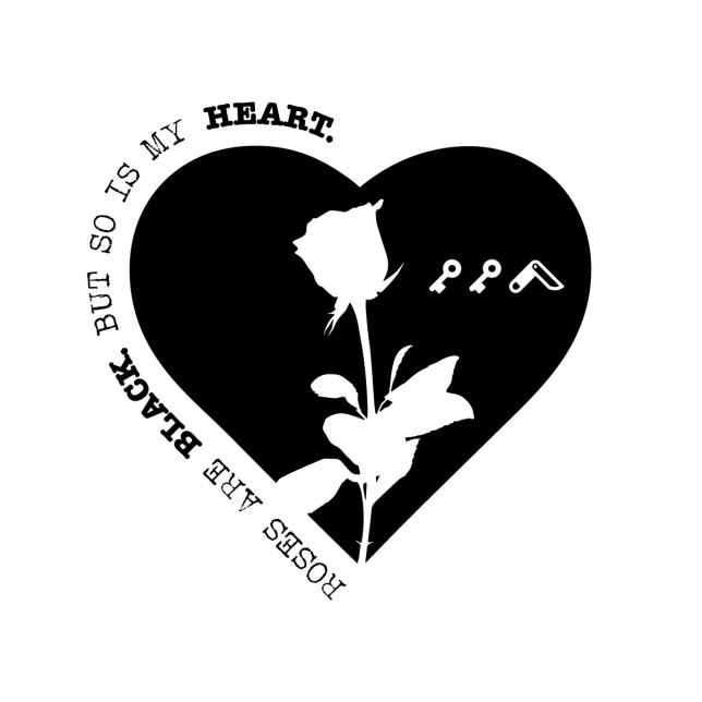 roses are black but so is my heart by kikicutt.com