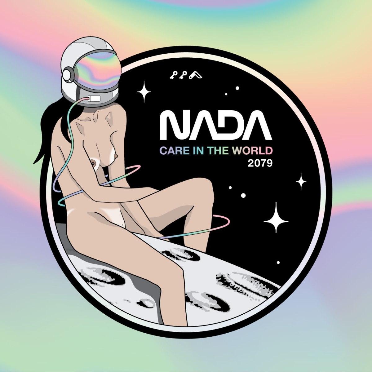 NASA nude astronaut NADA care in the world prints by kikicutt