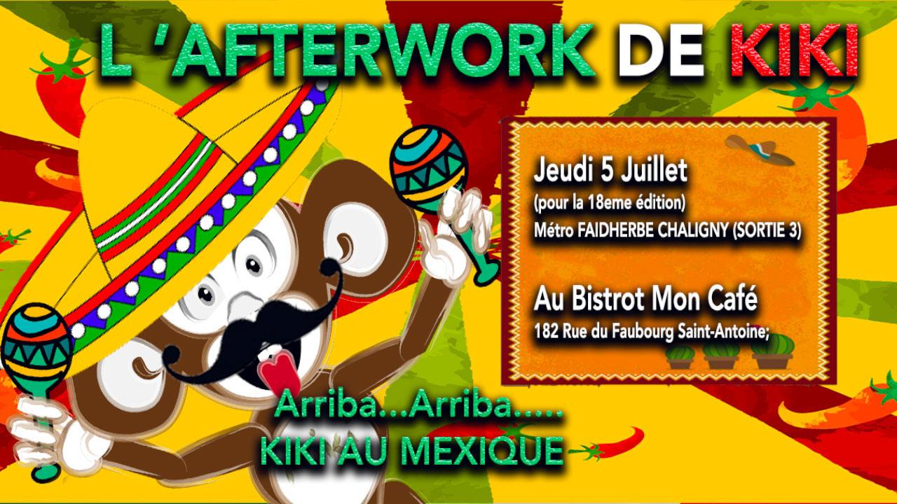 Afterwork de kiki Mexique juillet 2018