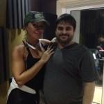 Con Melina Leon