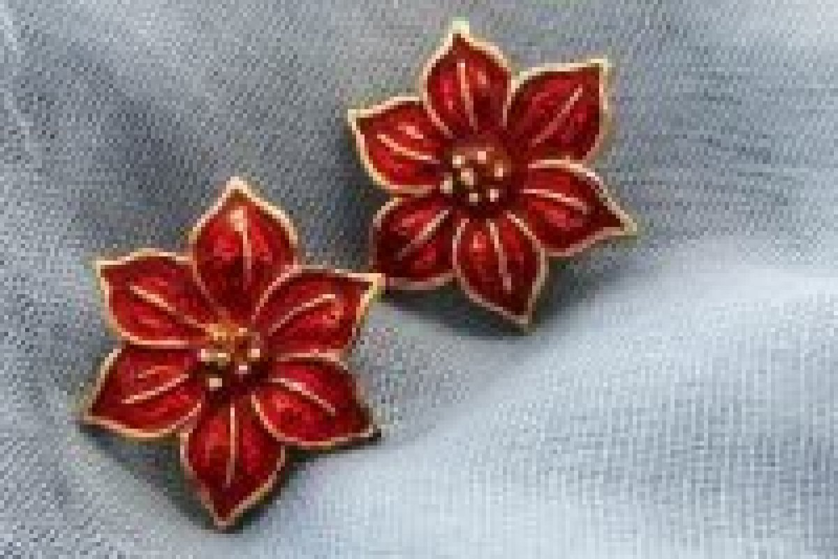 poinsettia-earrings
