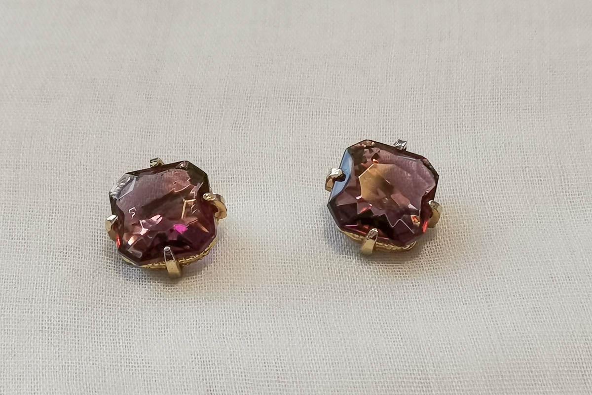 purple-glass-earrings