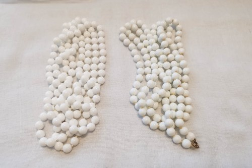 milk-glass flapper necklaces