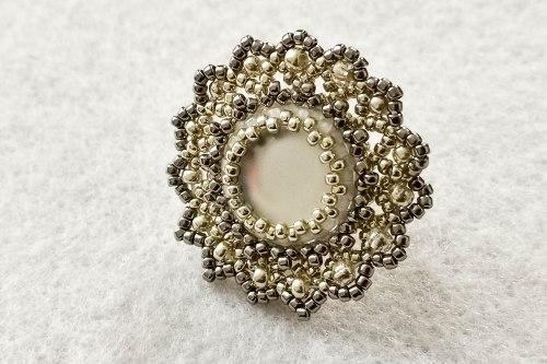 arctic rose brooch