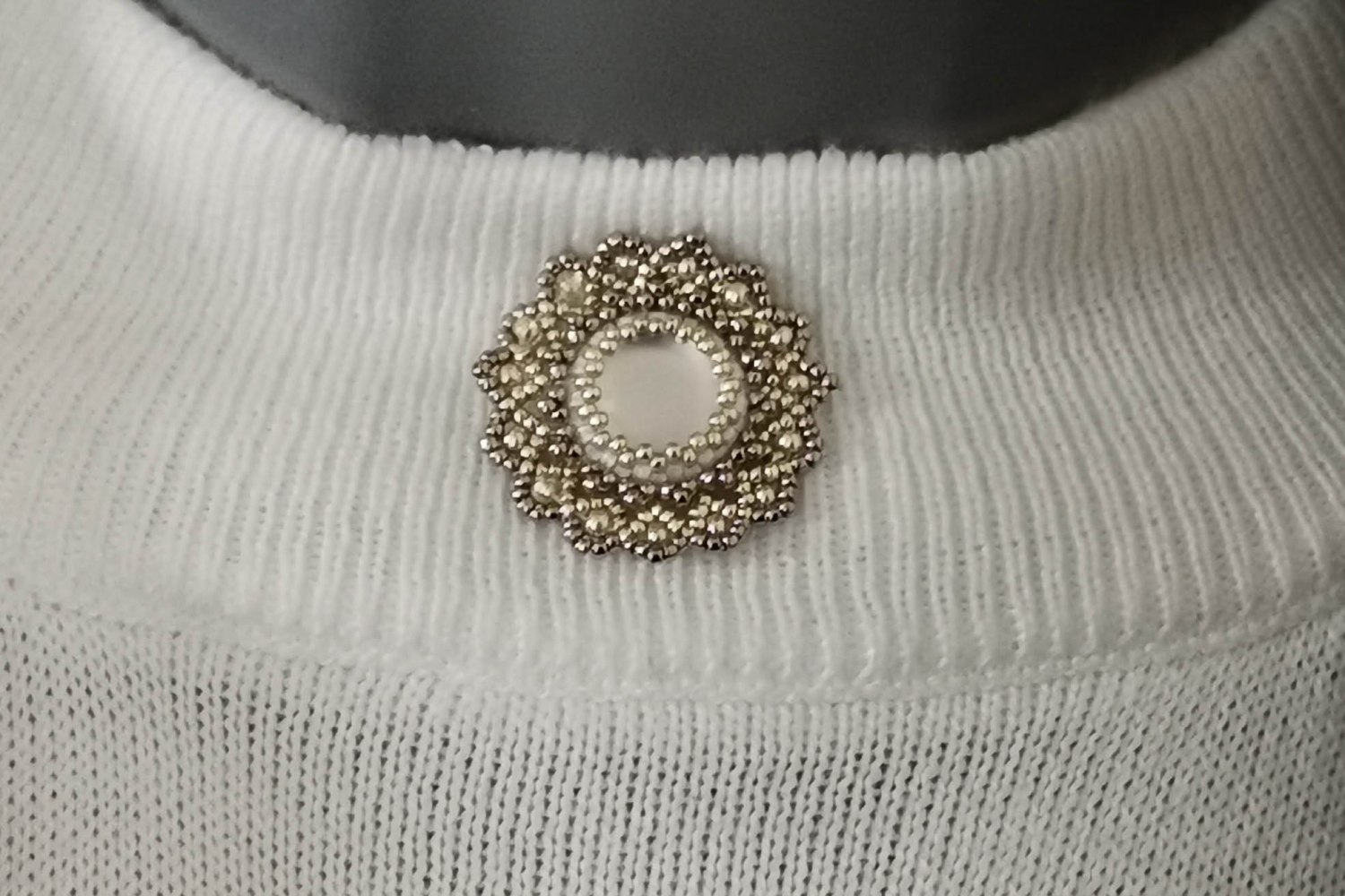 arctic rose brooch
