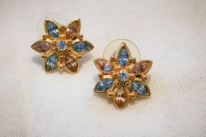 pastel flower earrings